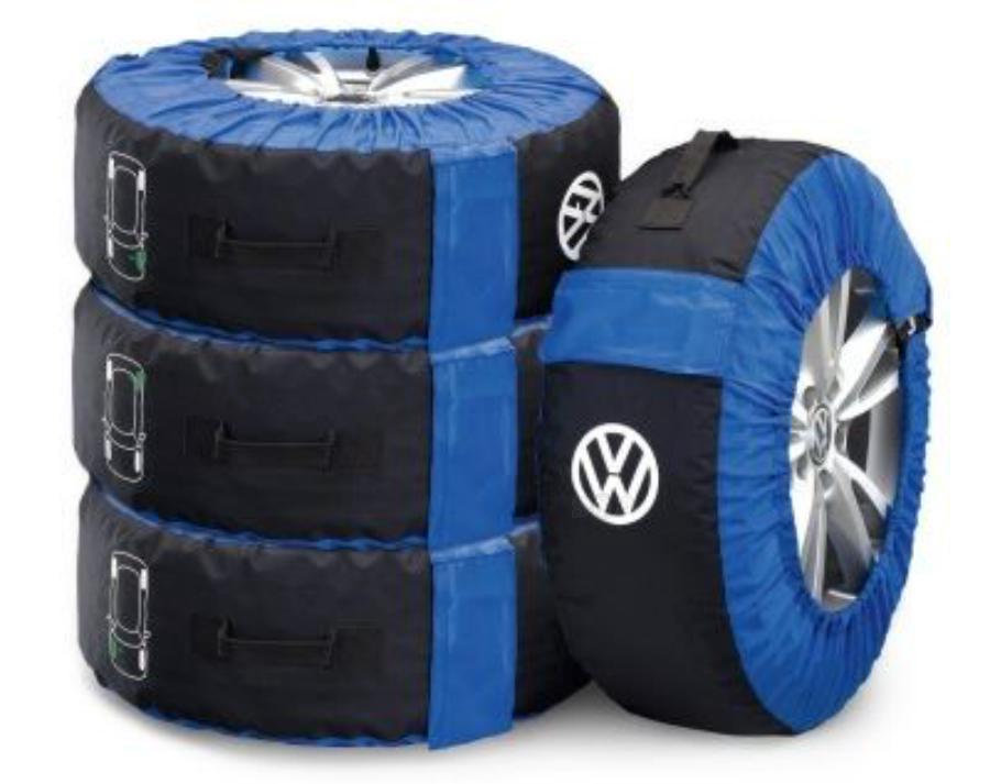 Комплект чехлов для колес Volkswagen 14-18 дюймов VAG