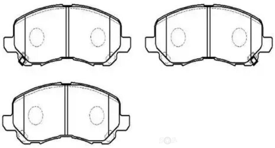 Тормозные колодки дисковые передние MITSUBISHI Airtrek  '02~06