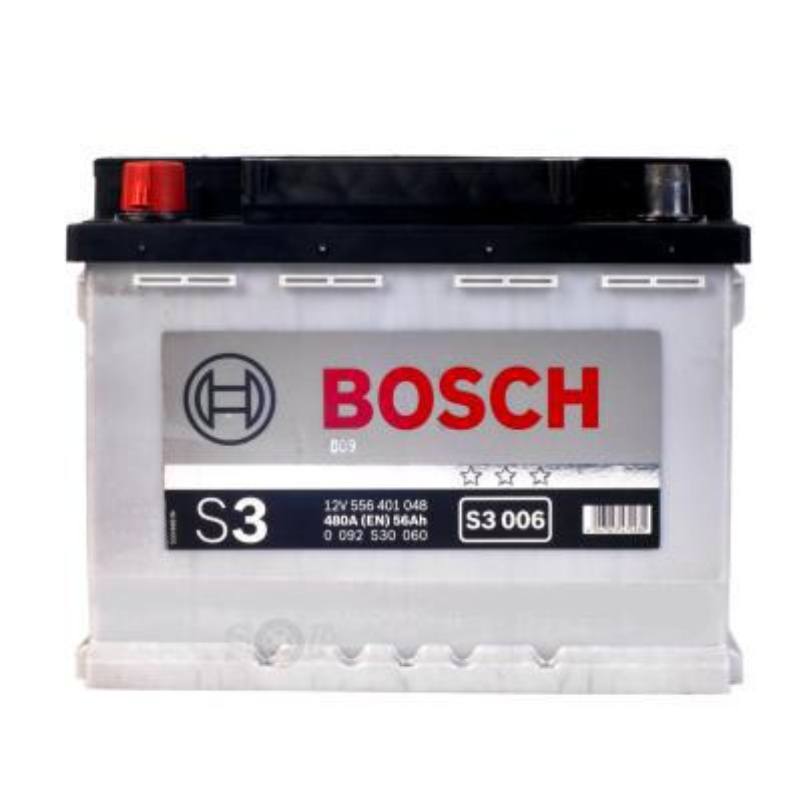Аккумулятор Бош 56 прямой полярности для Лада Калина BOSCH