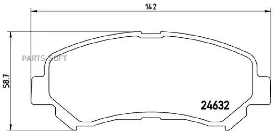 Снят, замена P 79 028 Колодки тормозные дисковые перед