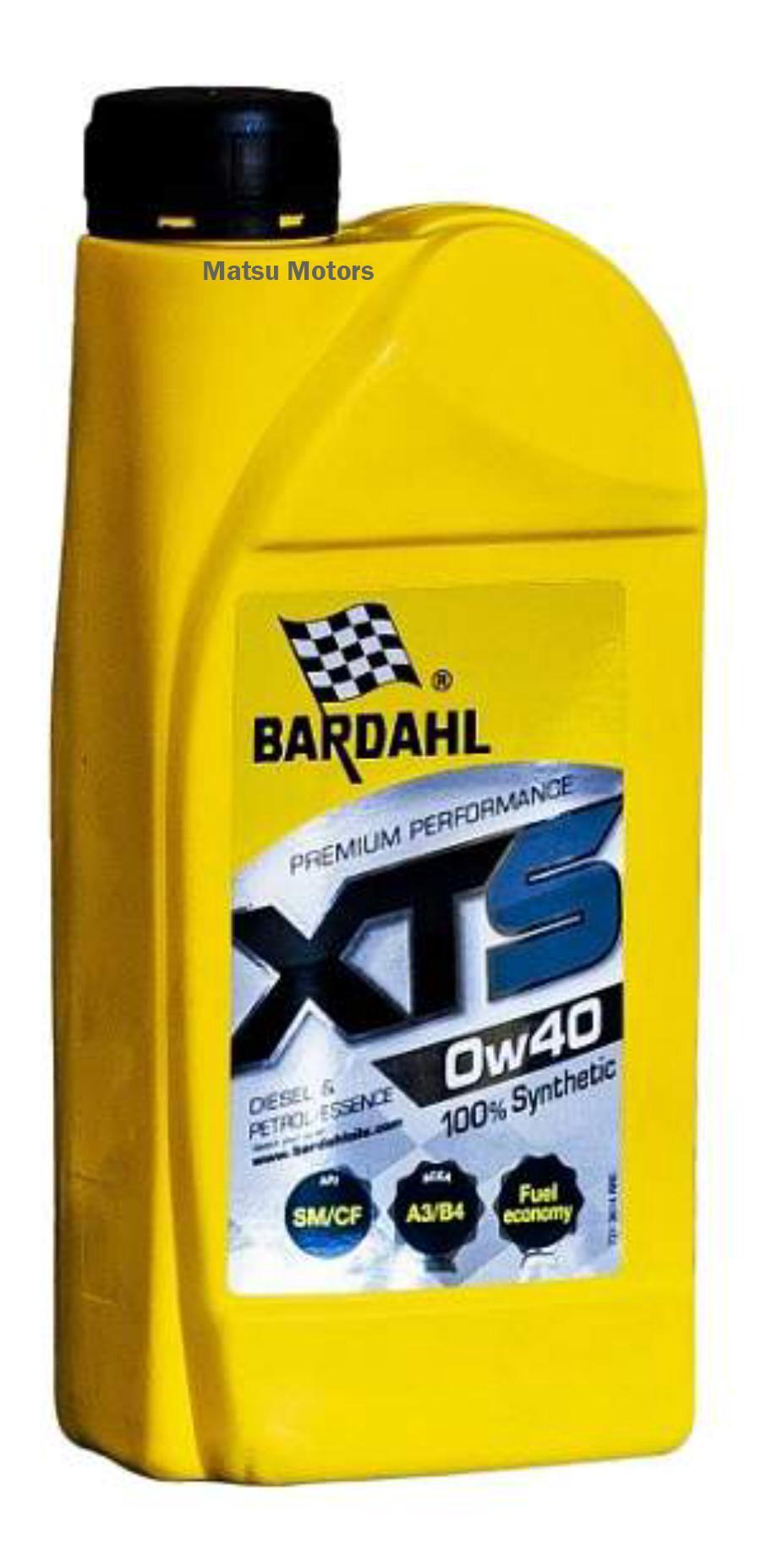 Масло BARDAHL 0W40 XTS SM/CF 1 литр A3/B4