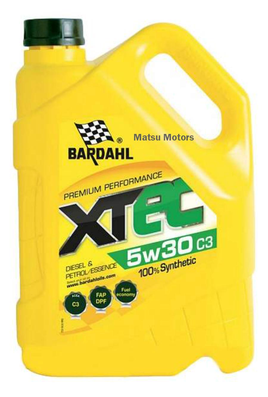 Масло  BARDAHL 5W30 XTEC SN/CF 5 литров C3-12