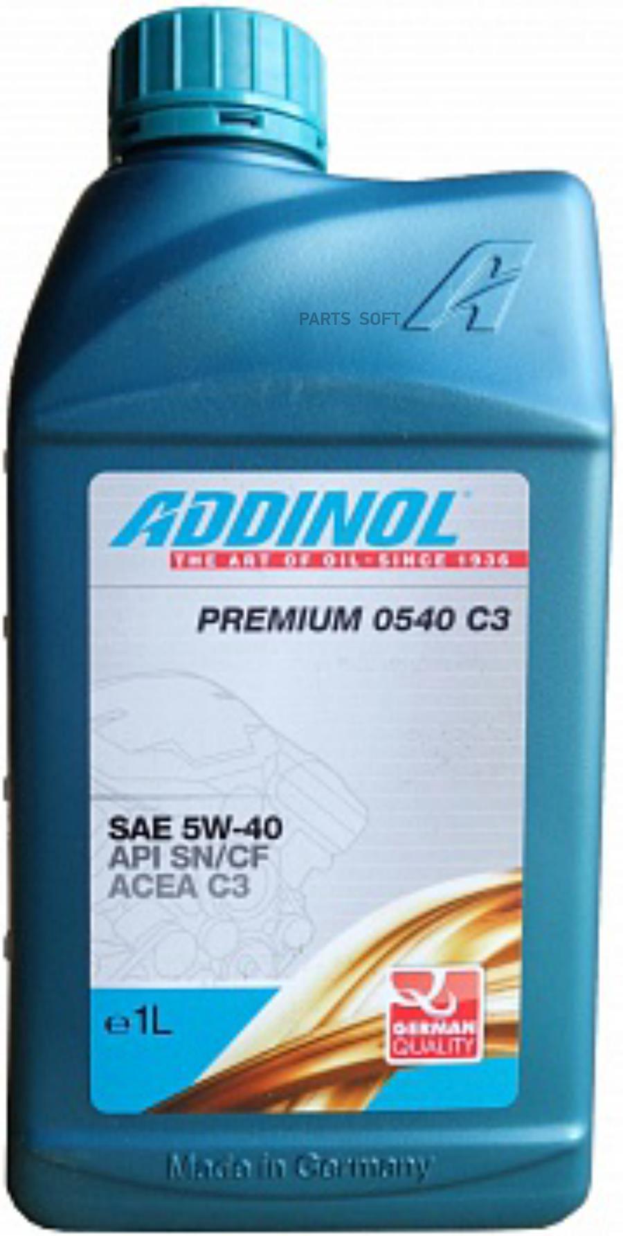 Моторное масло Premium 0540 C3