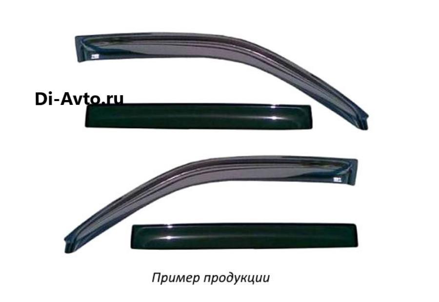 Дефлектор окон (НАКЛАДНОЙ скотч 3М) 4 шт. RENAULT LOGAN II 2014- седан