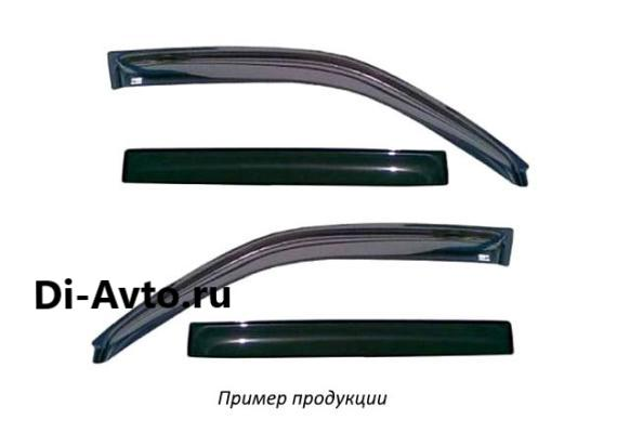 Дефлектор окон (НАКЛАДНОЙ скотч 3М) 4 шт. NISSAN ALMERA CLASSIC / ALMERA II (N16) (2000-2006)2006- седан