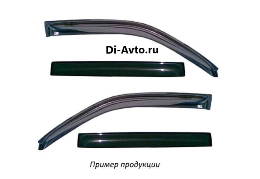 Дефлектор окон (НАКЛАДНОЙ скотч 3М) 4 шт. RENAULT LOGAN 2004- седан