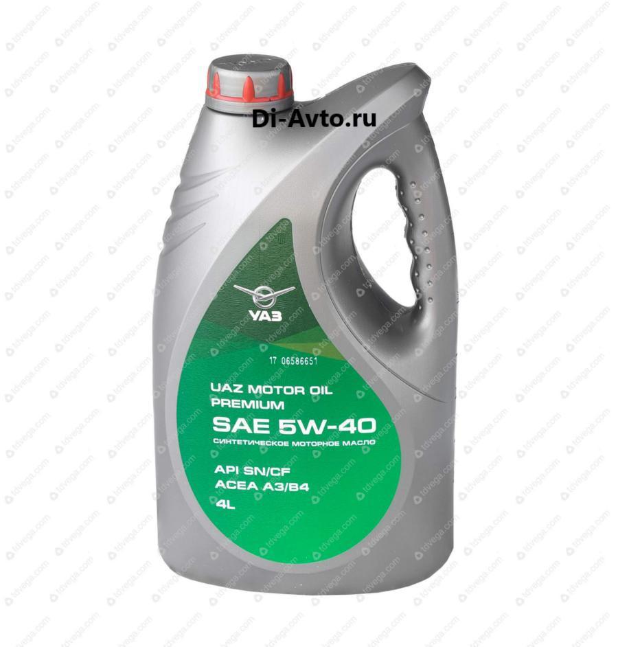 Масло моторное синтетическое Motor Oil Premium 5W-40, 4л