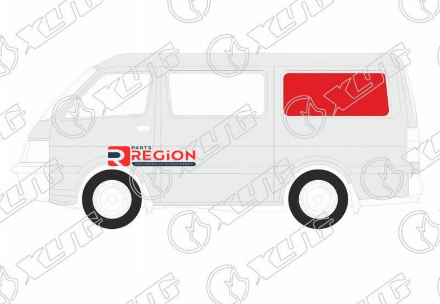 Стекло кузова (собачник) заднее левое VOLKSWAGEN TRANSPORTER T5 VAN 03-15
