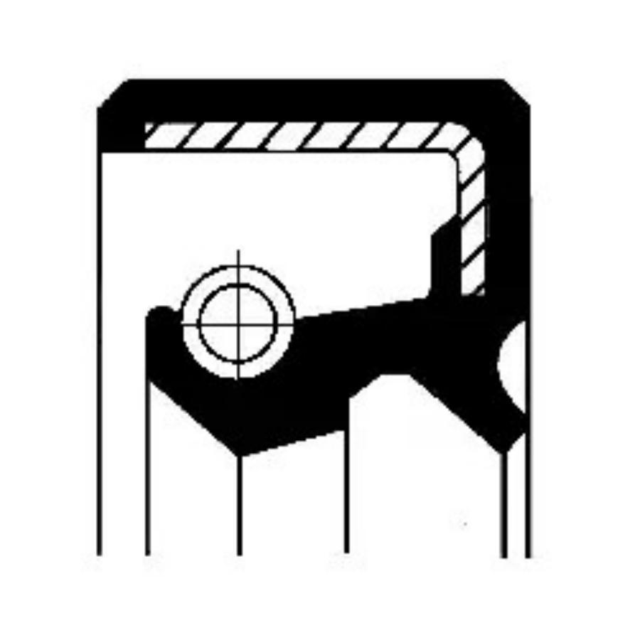 Уплотняющее кольцо вала, автоматическая коробка передач; Уплотняющее кольцо вала, привод спидометра