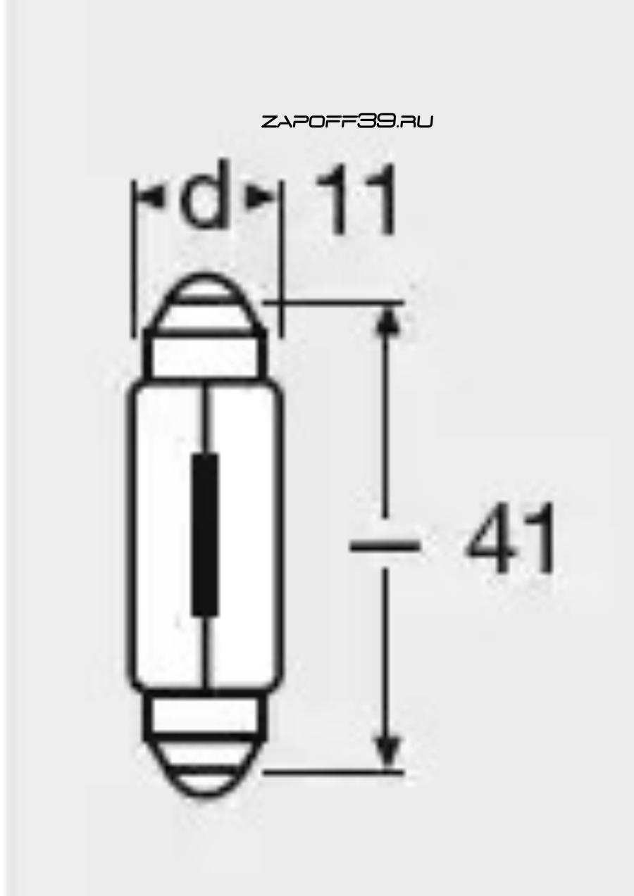 Лампа накаливания, фонарь освещения номерного знака