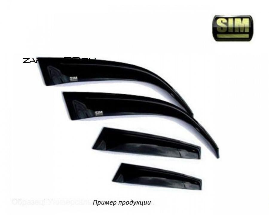 Дефлектор окон CHEVROLET CAPTIVA 2012-, темный, задний правый