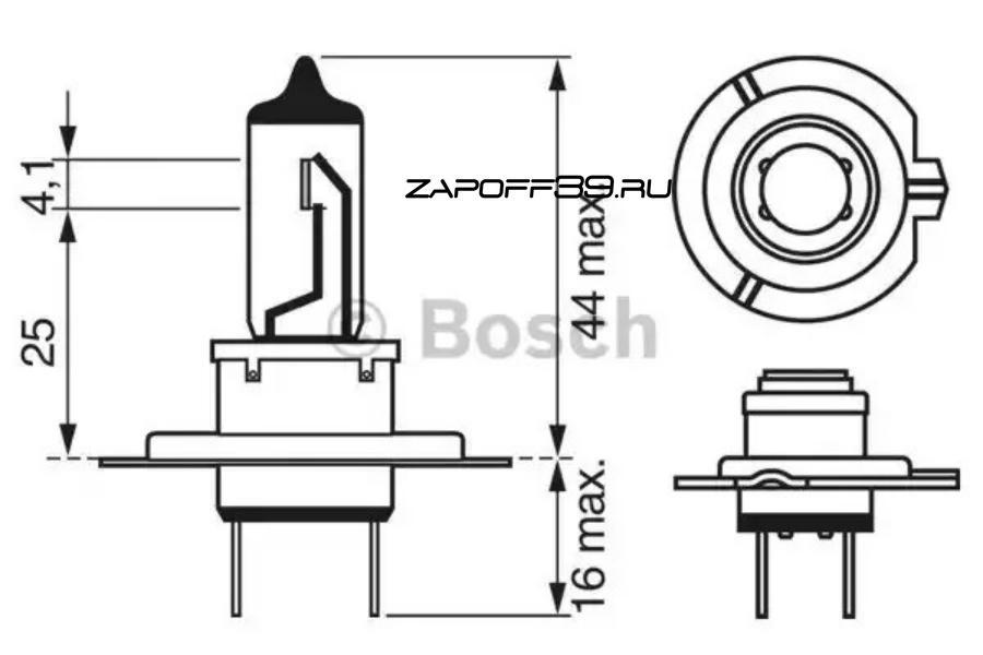 Лампа H7 STANDARD 12V SB BOSCH 1987302071