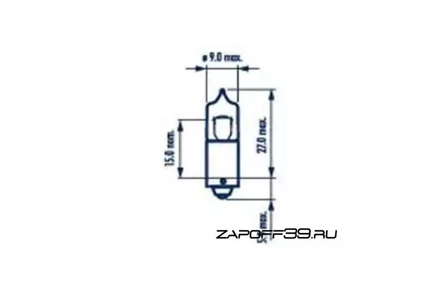 Лампа накаливания NARVA 68161