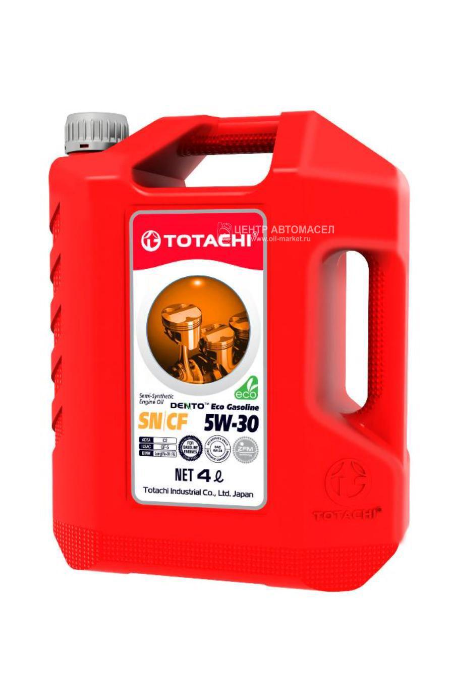 TOTACHI DENTO Eco Gasoline Semi-Synthetic API SN/CF 5W30 4л пласт.канистра