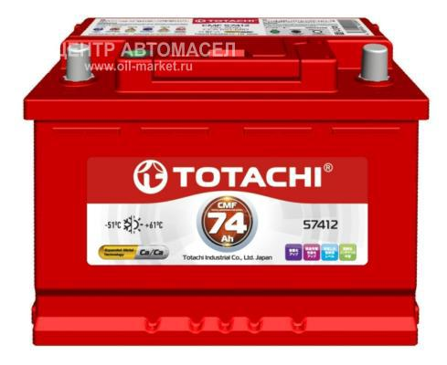 АКБ TOTACHI KOR  CMF 57412 74 L