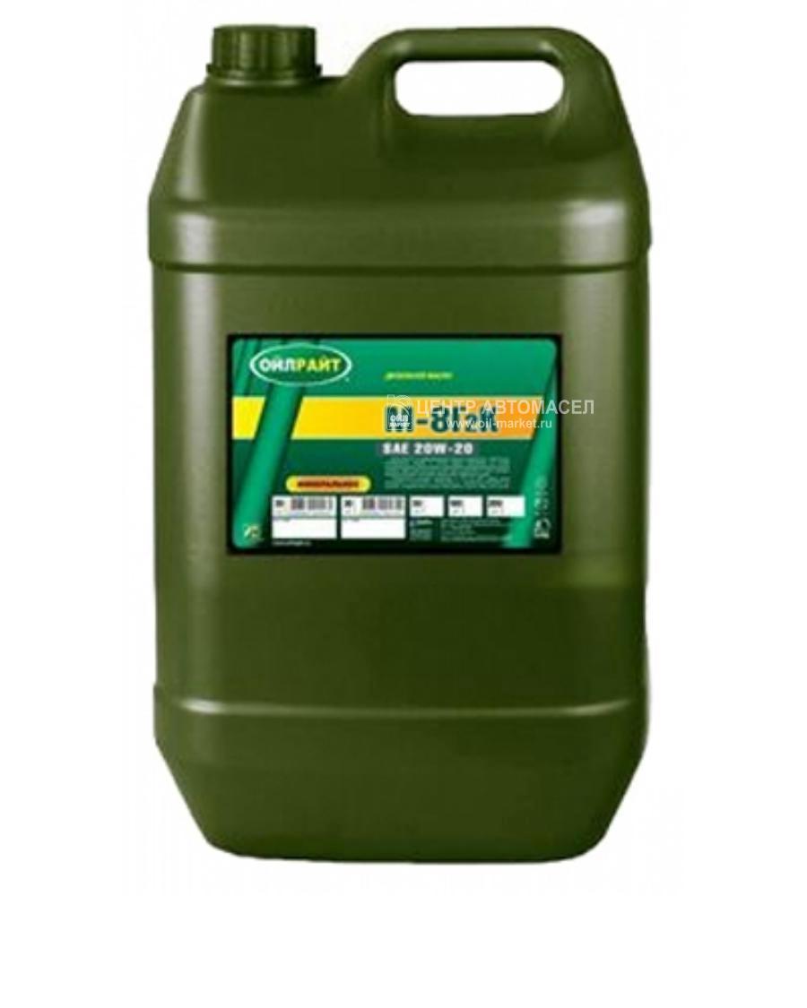Масло моторное минеральное М-8Г2К 20W-20, 5л