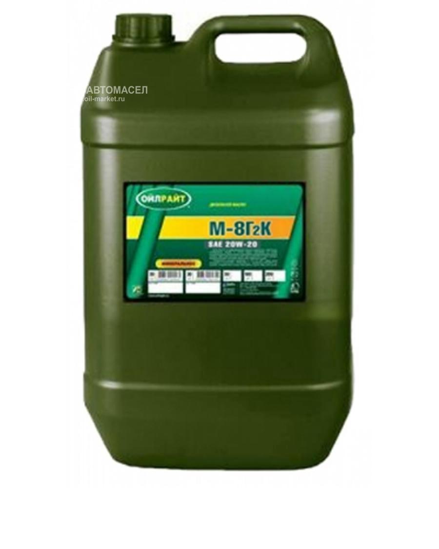 Масло моторное минеральное М-8Г2К 20W-20, 20л