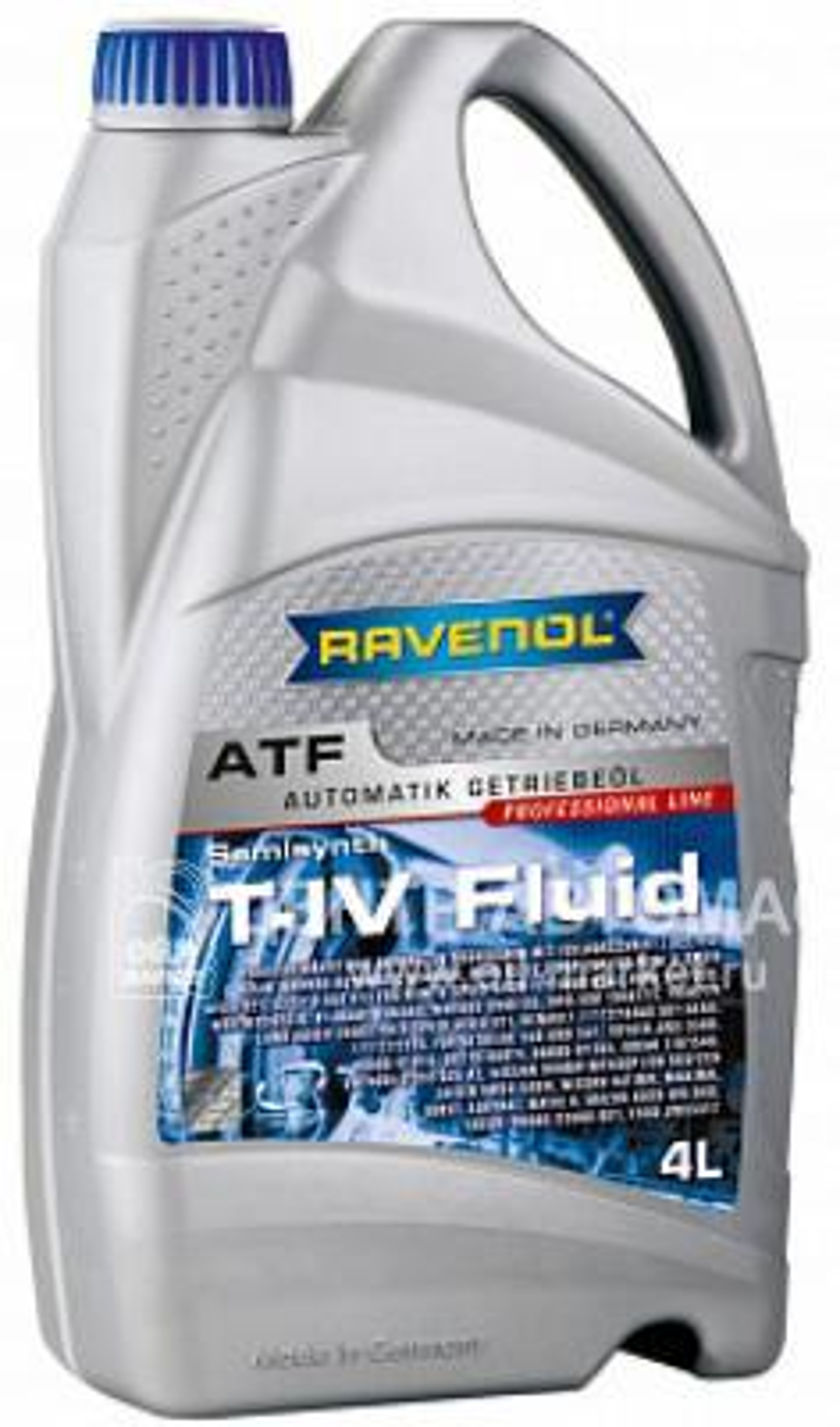 Трансмиссионное масло ravenol atf t-iv fluid ( 4л) new
