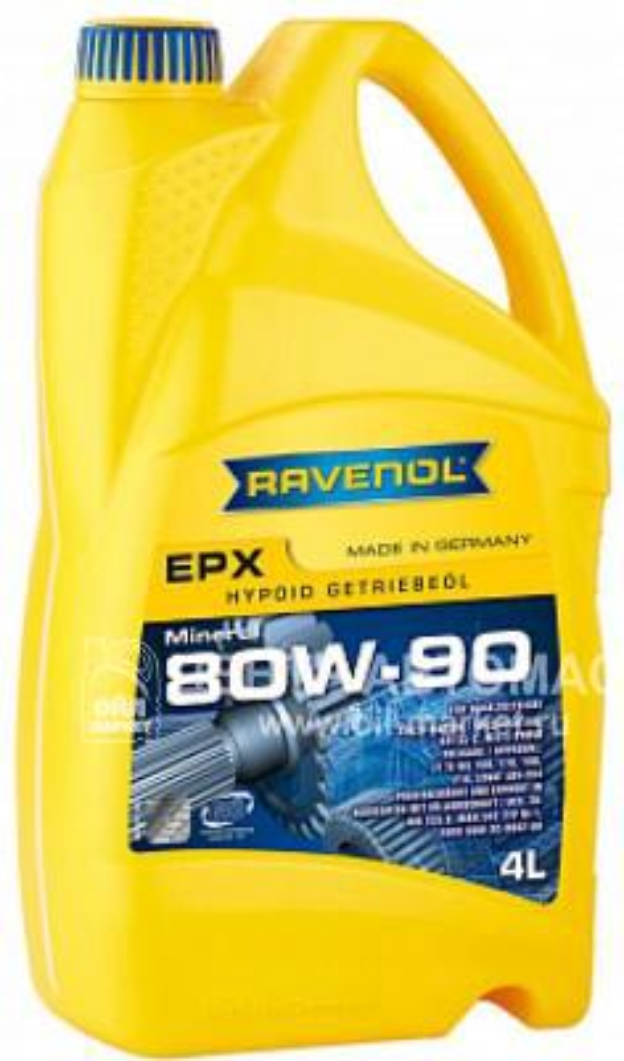 Трансмиссионное масло ravenol getriebeoel epx sae 80w-90 gl-5 ( 4л) new