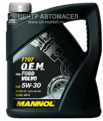 Масло моторное синтетическое 7707 O,E,M, for Ford Volvo 5W-30, 4л
