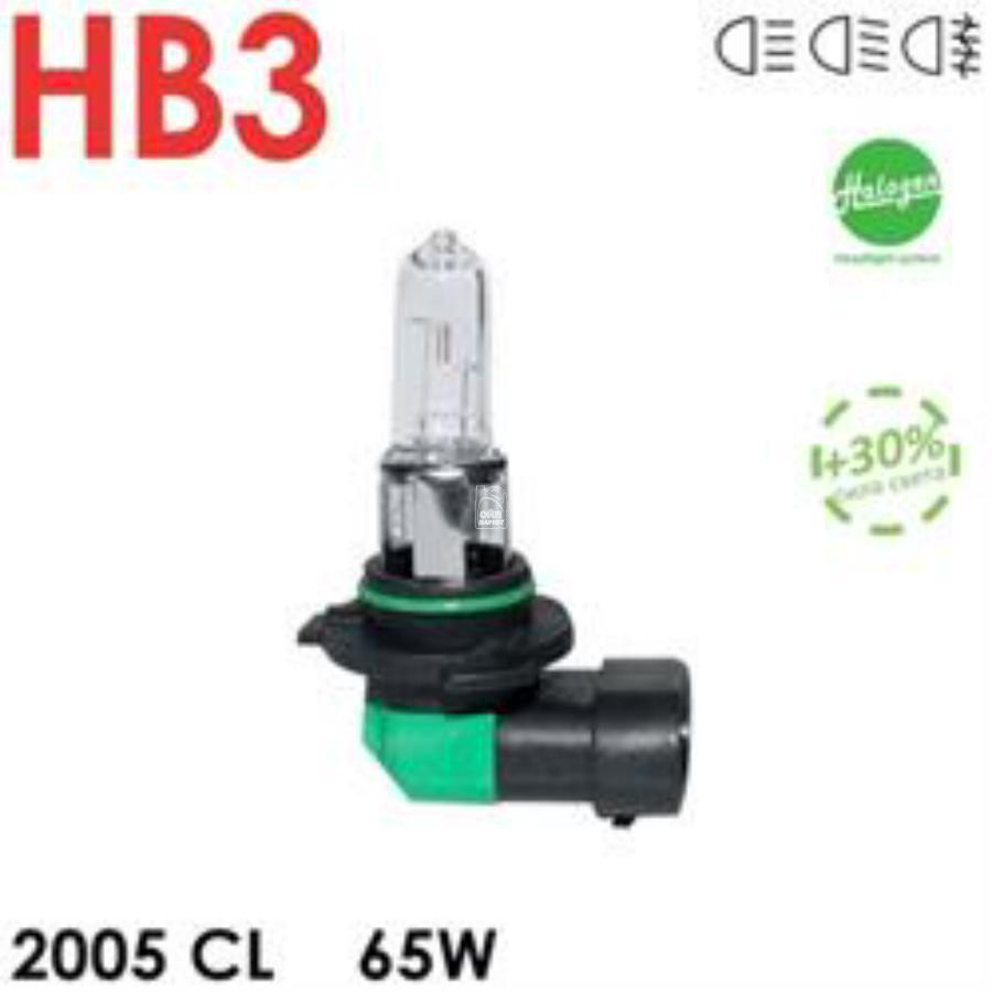 АВТОЛАМПА HB3 12V 65W CELEN, HALOGEN CLASSIC +30%