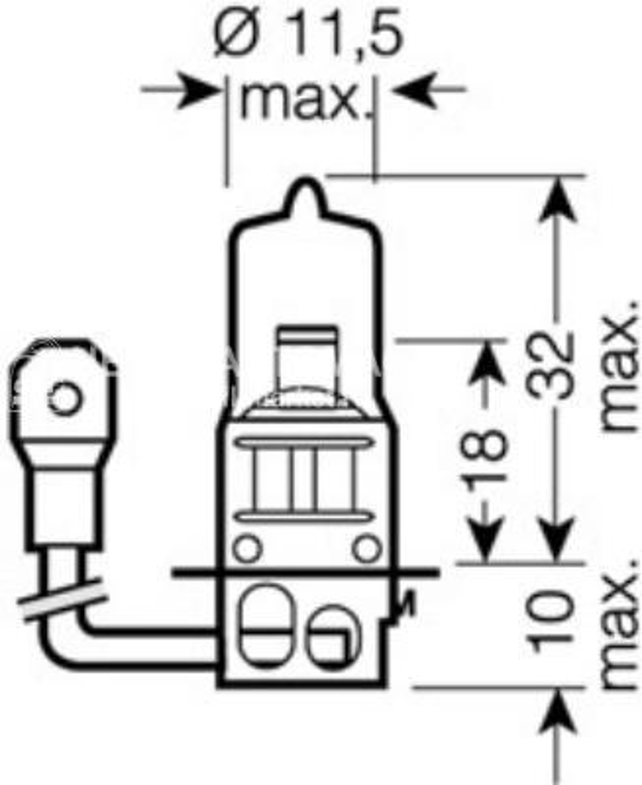 Лампа H3 24V 70W PK22s ORIGINAL LINE качество оригинальной з/ч (ОЕМ) 1 шт.