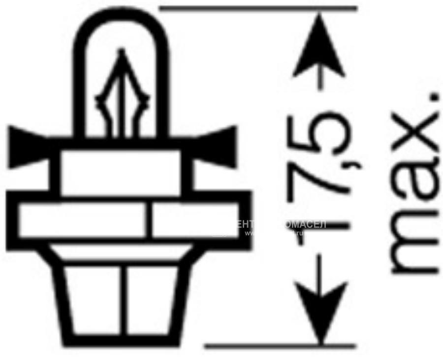 Лампа 12V 1,12W BX8.4d ORIGINAL LINE качество оригинальной з/ч (ОЕМ) 1 шт.