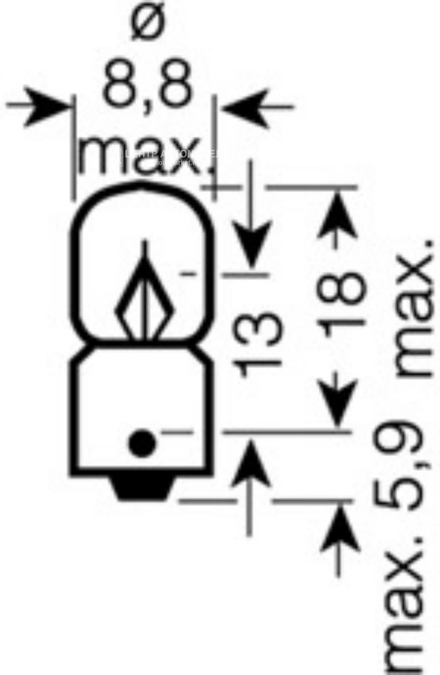 Лампа накаливания Original Line T3W 12В 3Вт