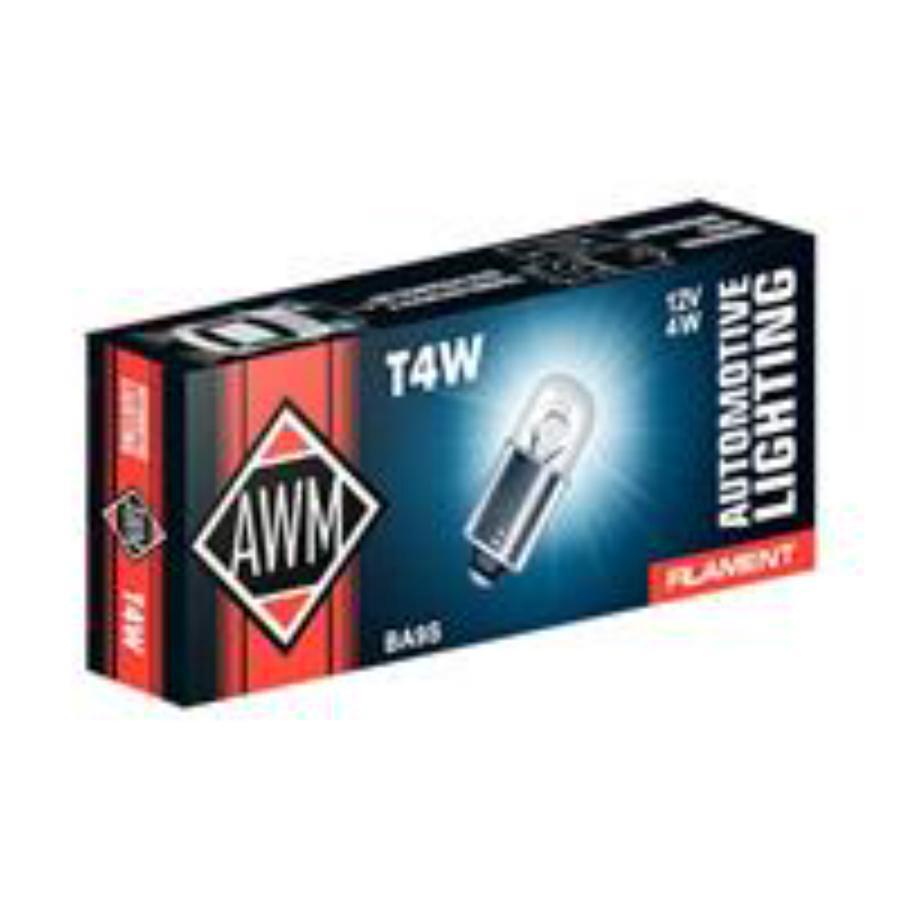 Лампа накаливания T4W 12В 4Вт