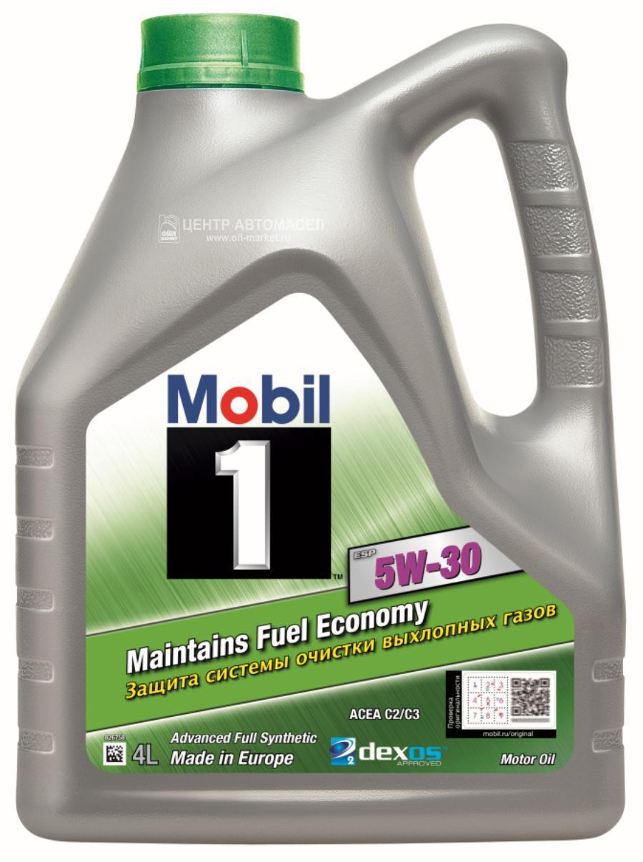 Масло моторное синтетическое Mobil 1 ESP Formula 5W-30, 4л