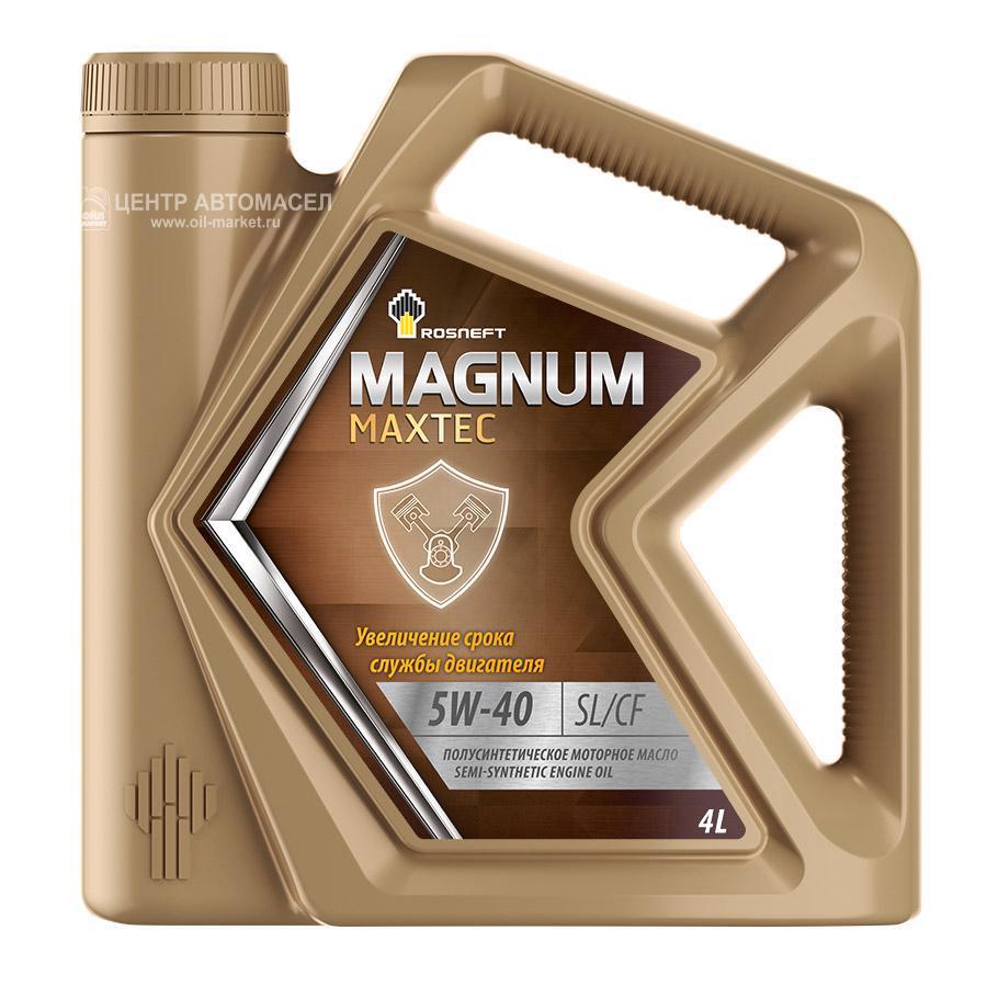 Масло моторное полусинтетическое Magnum Maxtec 5W-40, 4л