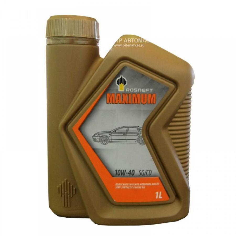 Масло моторное полусинтетическое Maximum 10W-40, 1л