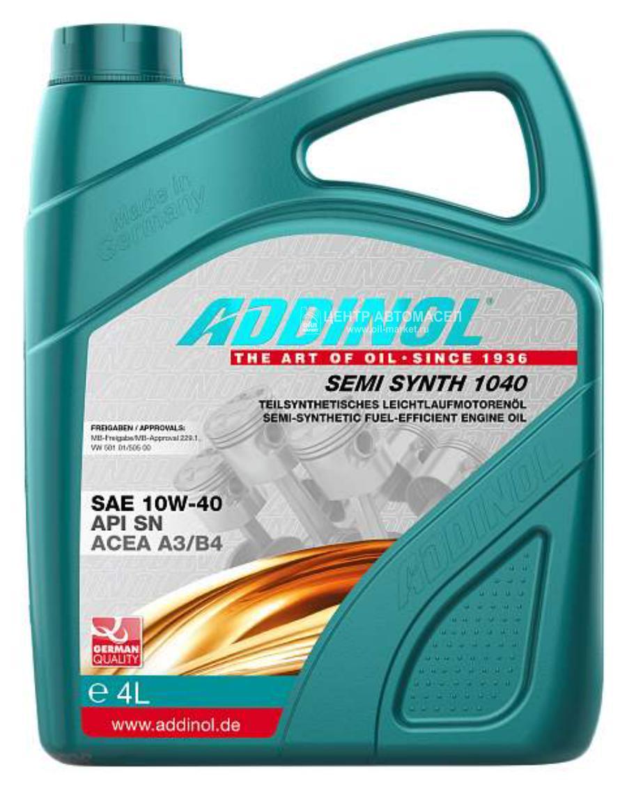 Масло моторное полусинтетическое Semi Synth 1040 10W-40, 4л