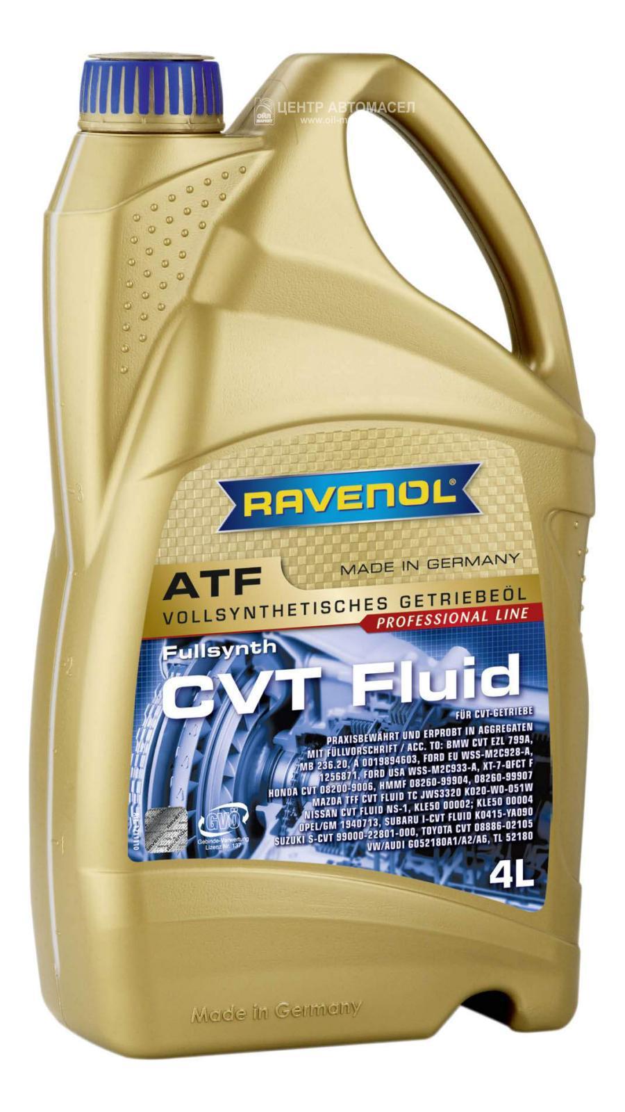 Трансмиссионное масло ravenol cvt fluid ( 4л) new