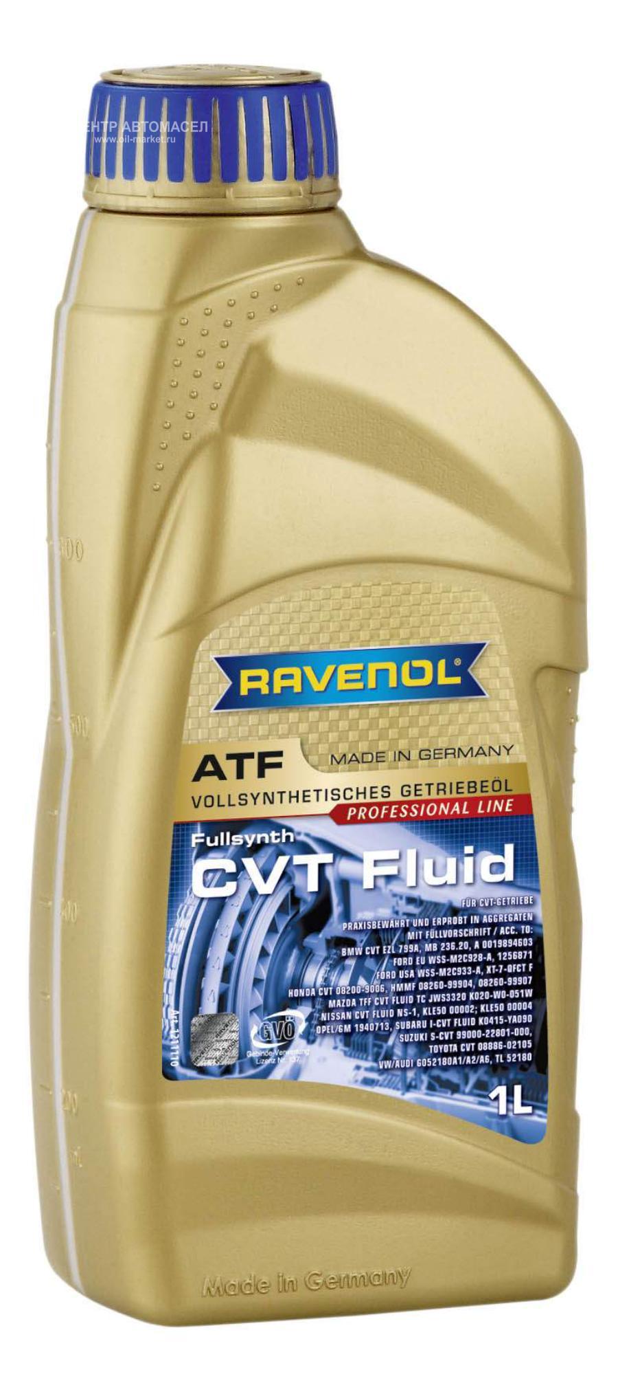 Трансмиссионное масло ravenol cvt fluid ( 1л) new