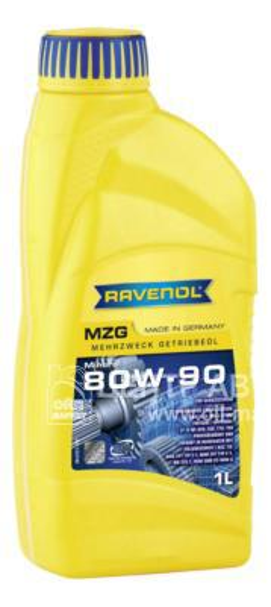 Трансмиссионное масло ravenol getriebeoel mzg sae 80w-90 gl-4 ( 1л) new
