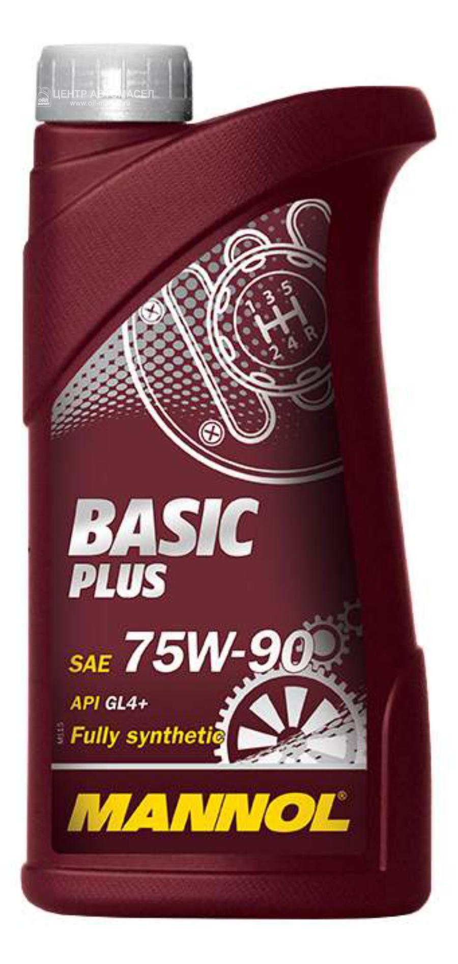 Масло трансмиссионное синтетическое BASIC PLUS 75W-90, 1л