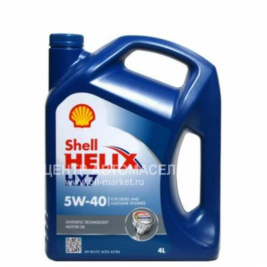 Масло моторное полусинтетическое Helix HX7 5W-40, 4л