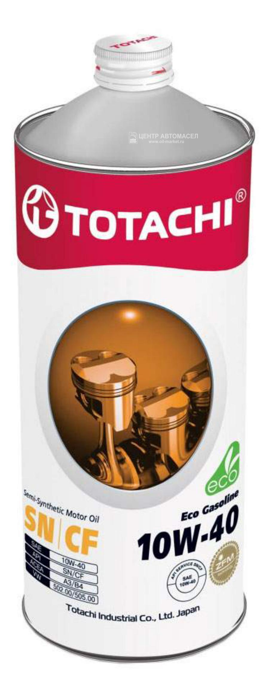Масло моторное полусинтетическое Eco Gasoline 10W-40, 1л