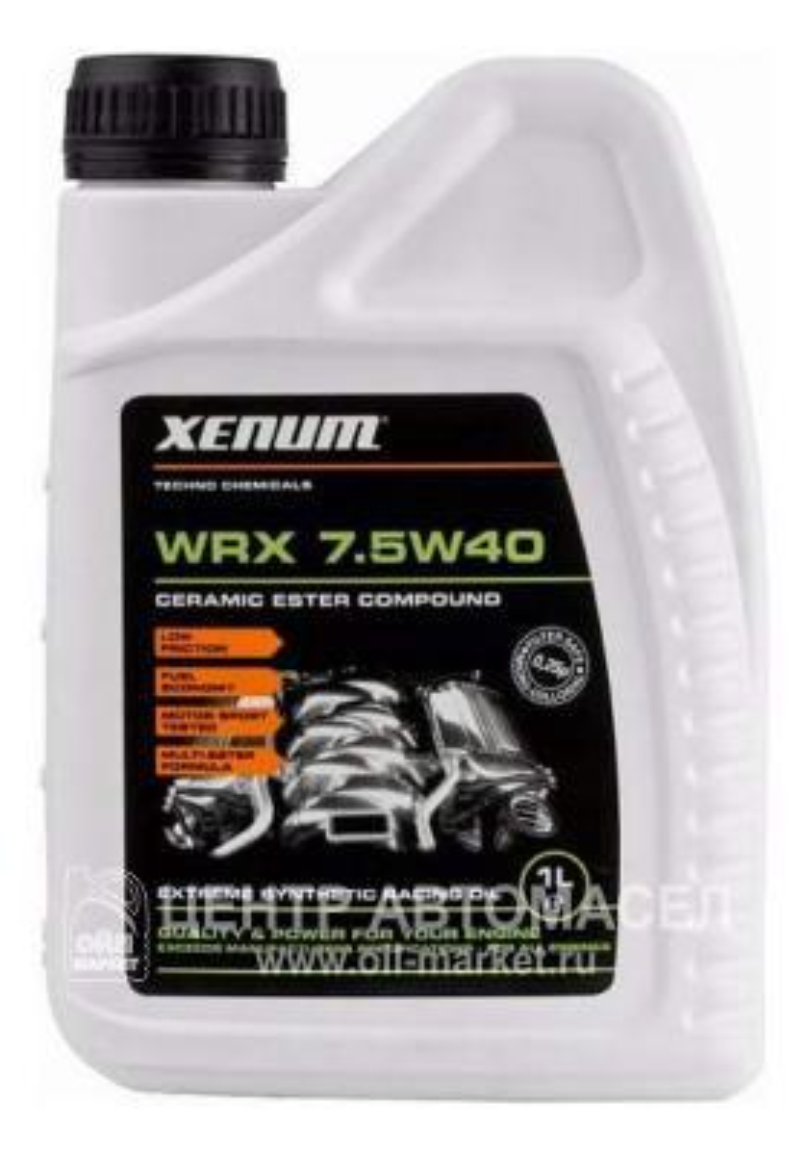 Масло моторное синтетическое WRX 7,5W-40, 1л