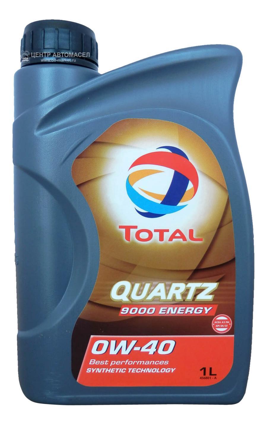 Масло моторное синтетическое QUARTZ 9000 ENERGY 0W-40, 1л