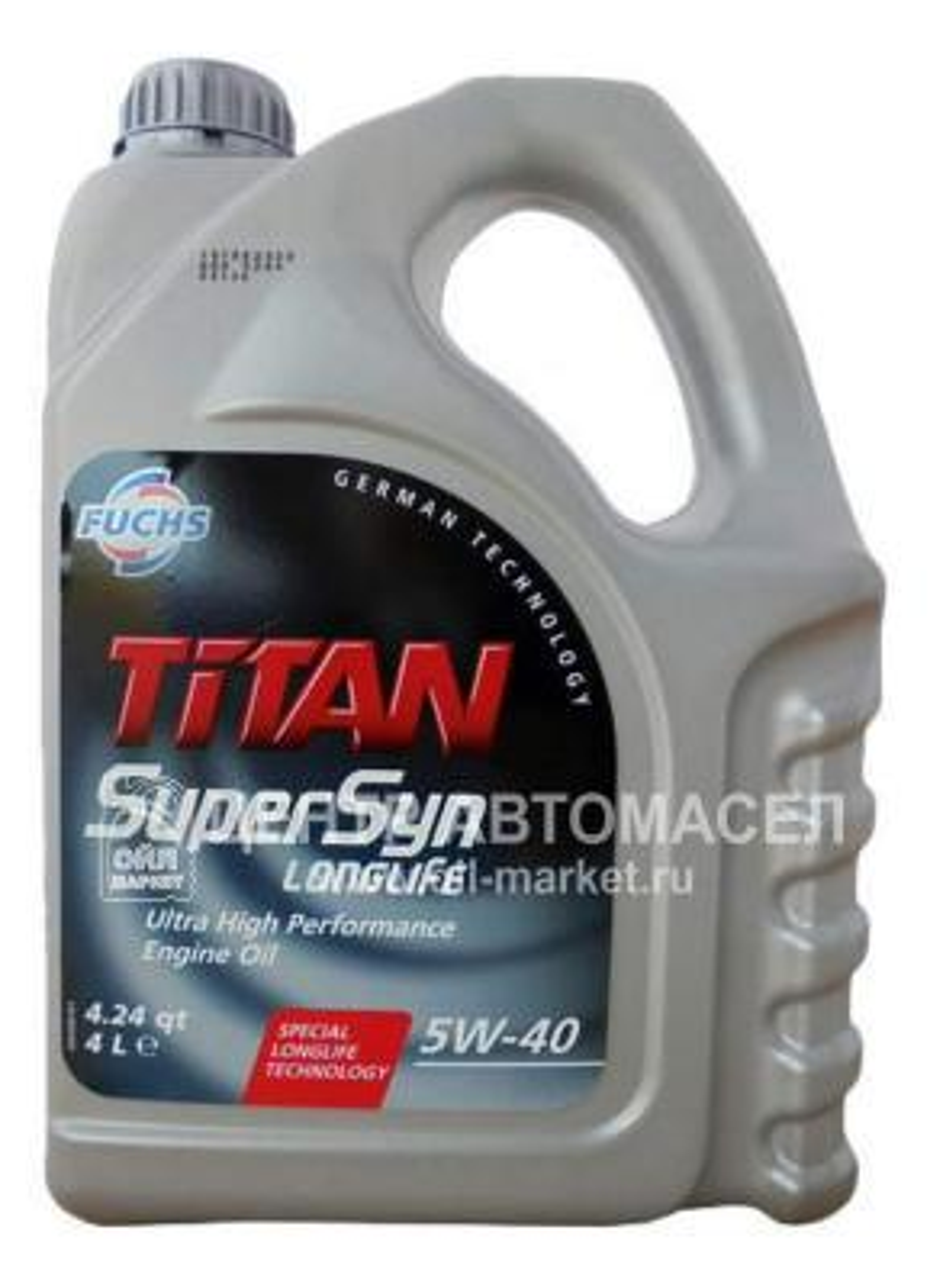 Масло моторное синтетическое TITAN SUPERSYN LONGLIFE 5W-40, 4л