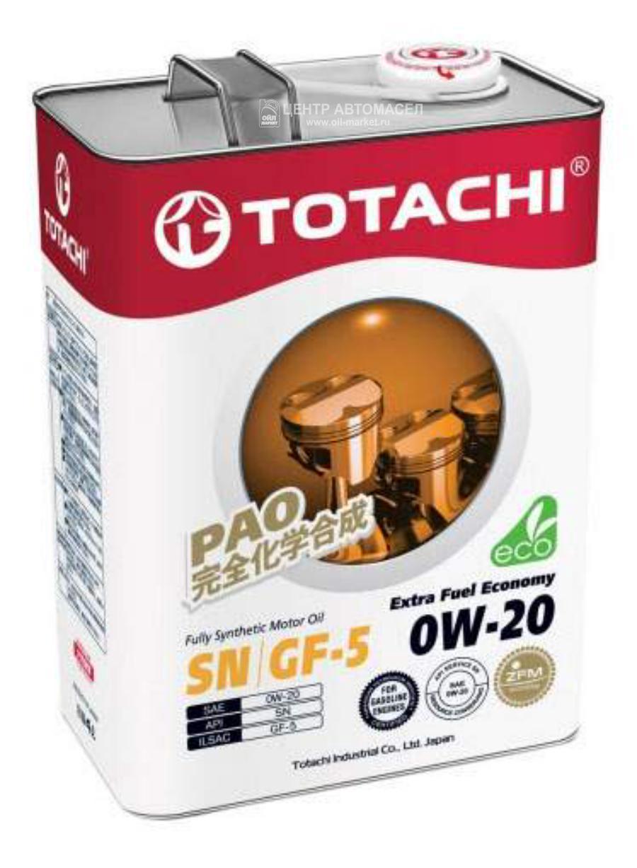 Масло моторное TOTACHI синтетическое 4т Extra Fuel 0w20 4л