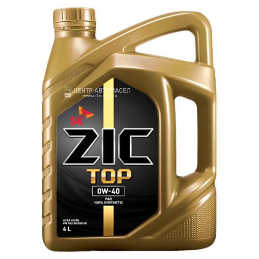 Масло моторное синтетическое Top 0W-40, 4л