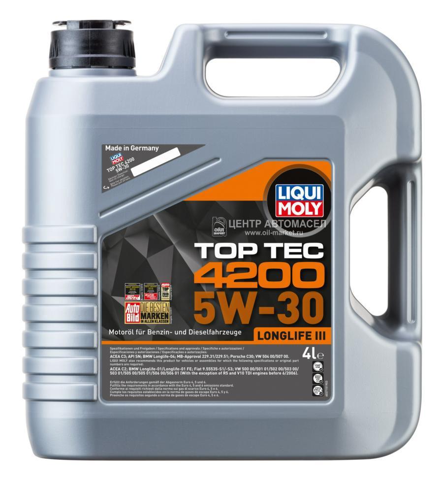 5W-30 Top Tec 4200 (НС-синт.мотор.масло) 4л