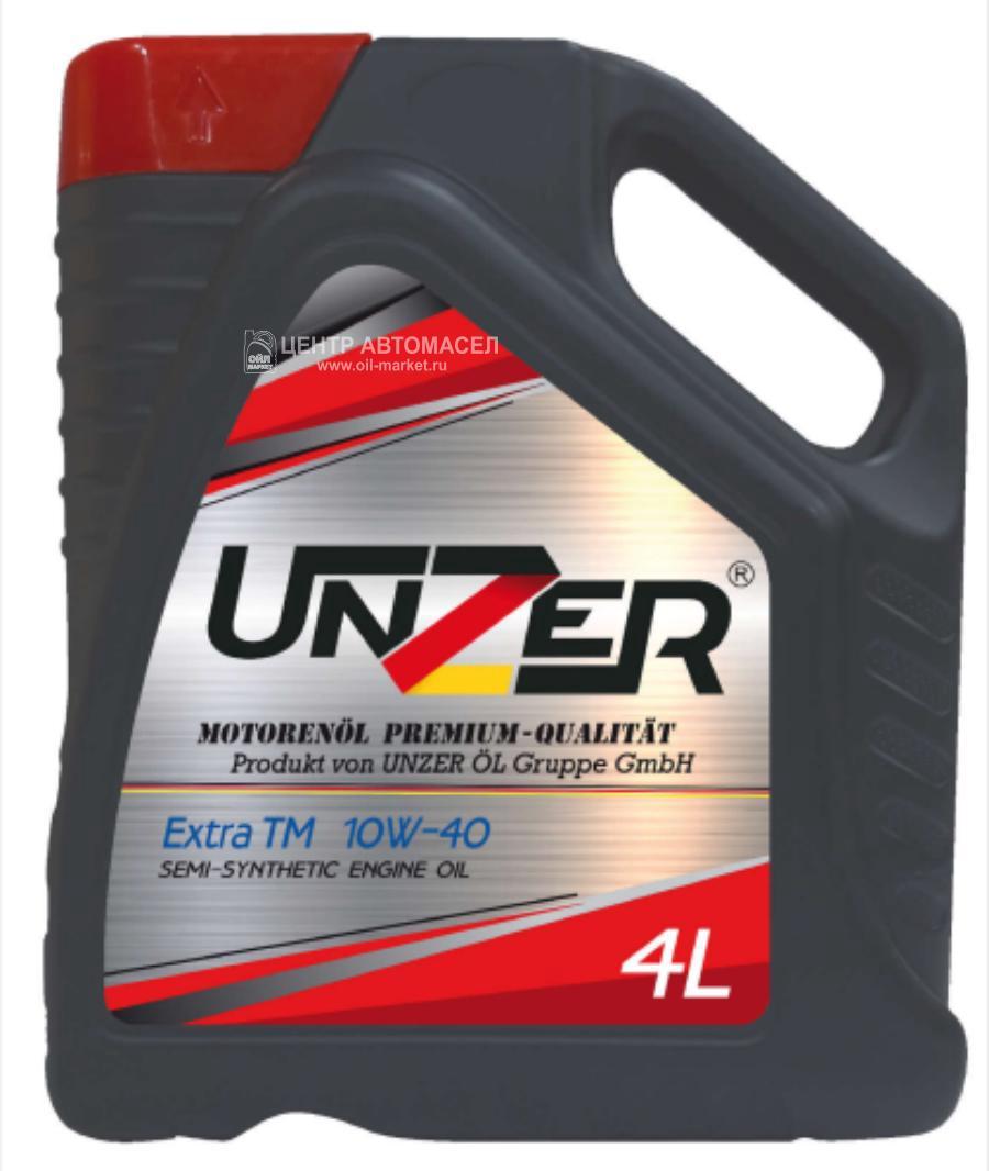 Масло моторное UNZER п/син Extra TM 10w40 4л