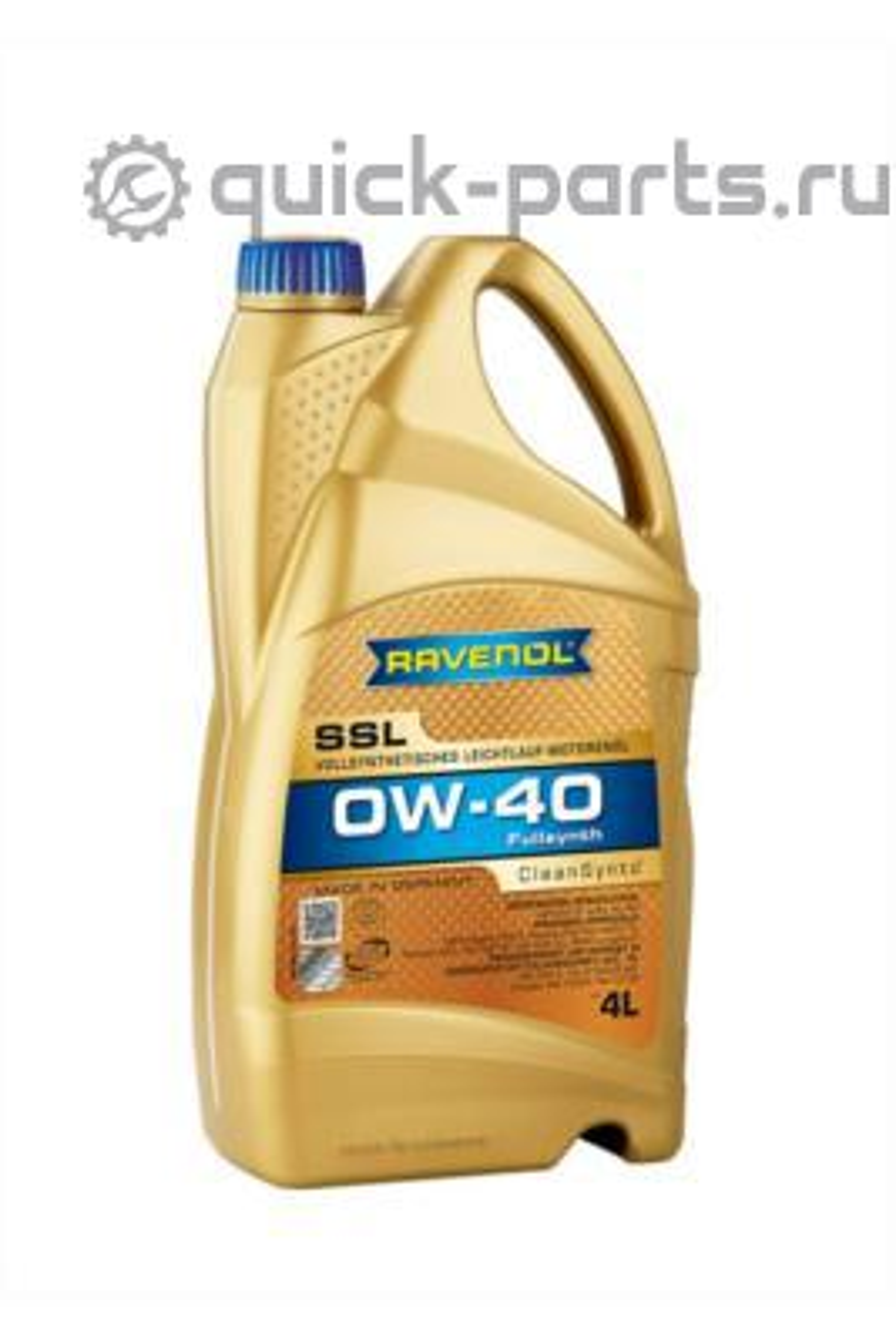 Масло моторное синтетическое Super Synthetik Oel SSL 0W-40, 4л