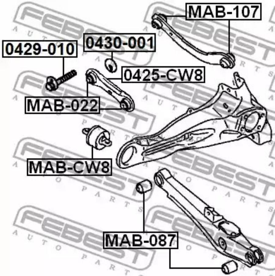Эксцентрик задней подвески (комплект) MITSUBISHI ASX/DELICA D:5/GALANT/LANCER/OUTLANDER/RVR   2005-2