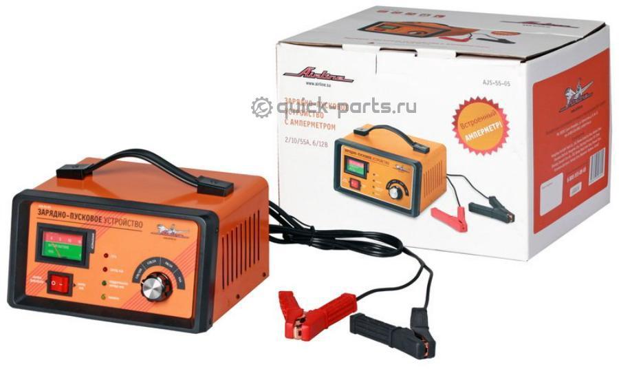 Зарядно-пусковое устройство 2/10/55А 6В/12В, амперметр, трансформаторное