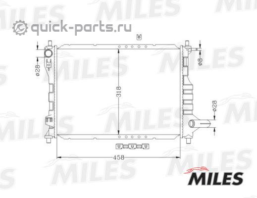 РАДИАТОР (GM MATIZ/SPARK 0.8/1.0 M/T 05- ) ACRB047
